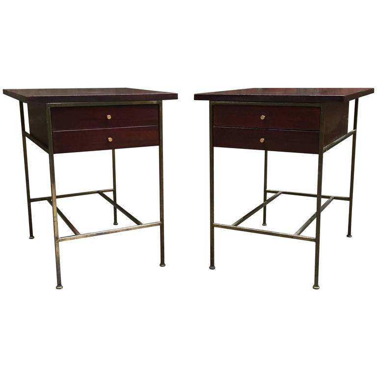 pair of paul mccobb irwin collection end tables for sale at 1stdibs. Black Bedroom Furniture Sets. Home Design Ideas