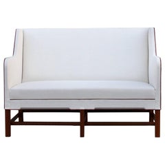 Kaare Klint Model 4118 Two-Seat Box Sofa by Rud Rasmussen