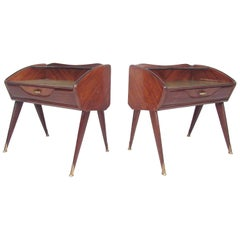 Pair of Mid-Century Modern Italian Nightstands in the Style of Paolo Buffa