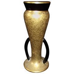 1940s Art Deco 24-Karat Encrusted Porcelain Vase