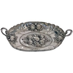 Large Silver Fruit Dish, circa 1880,  Probably Neresheimer & Co
