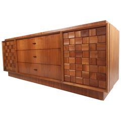 Mid-Century Brutalist Style Nine-Drawer Dresser