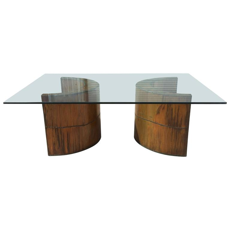 Copper Dining Room Tables: Brutalist Welded Copper Dining Table, Paul Evans Silas