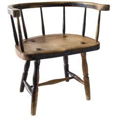 Late 19th Century Primitive Chair, Danish