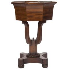 American Mahogany Octagonal Jardinière with Liner