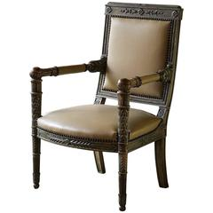 19th Century Single Painted Directoire Armchair