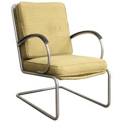 1933, W.H. Gispen for Gispen Culemborg, Easy Chair 409 by Gispen Designed Fabric