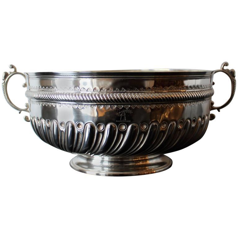 Charles Stuart Harris Sterling Silver Presentation Bowl For Sale