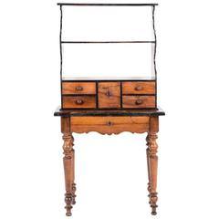 Antique Rustic French Walnut Three-Tier Stand, circa 1880