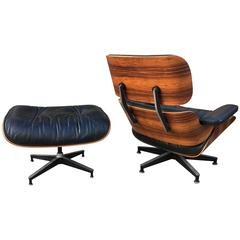 Fantastic Original Rosewood Herman Miller Eames Lounge and Ottoman