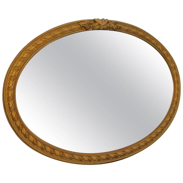 Elegant 1920s oval mirror for sale at 1stdibs for Elegant mirrors