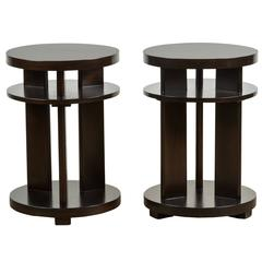 Pair of 1940s Mahogany Side Tables