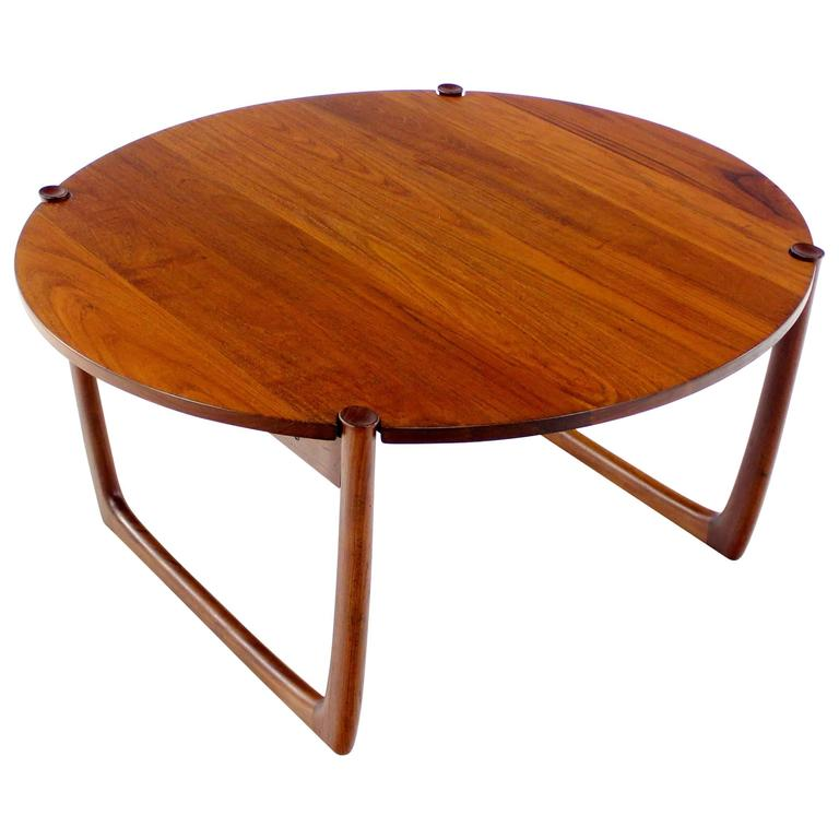 Solid teak danish modern coffee table designed by peter hvidt at 1stdibs Solid teak coffee table