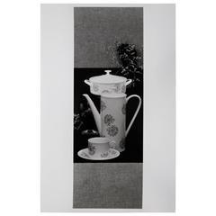 Willi Moegle Still Live Silver Gelatin Print Arzberg Porcelain by Loeffelhardt