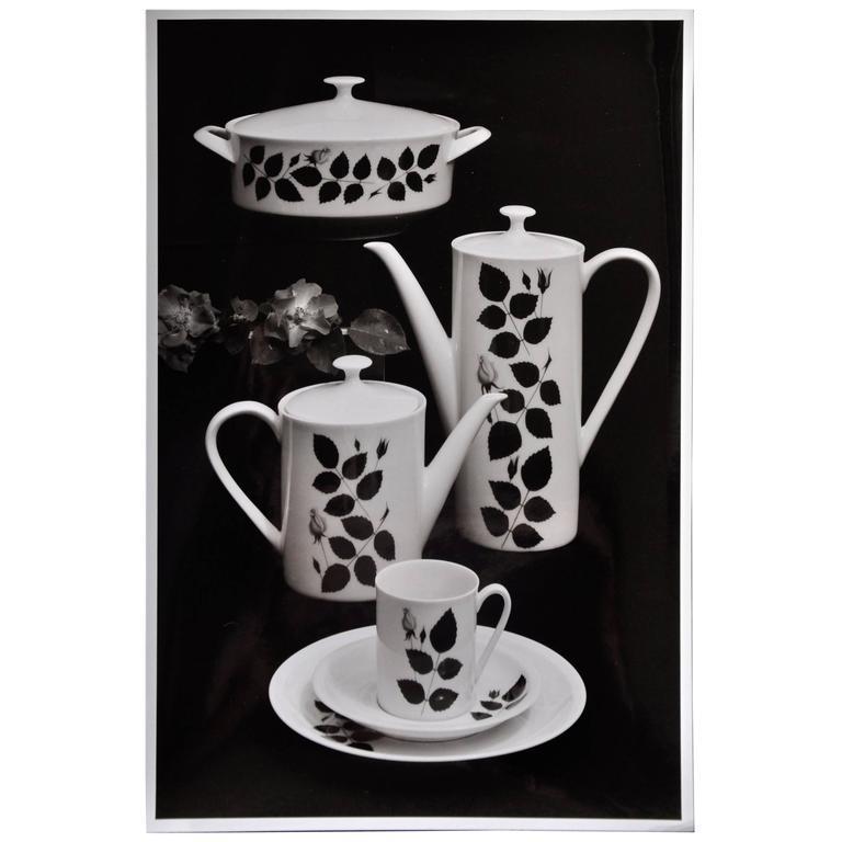 Willi Moegle Still Live Silver Gelatin Print Coffee Service by Loeffelhardt