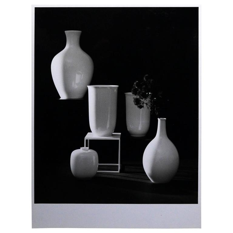Willi Moegle Still Live Arzberg Vases by Herrman Gretsch Silver Gelatin Print