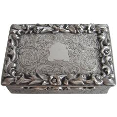 Fine and Rare Table Snuff Box Made in London in by Rawlings & Summers
