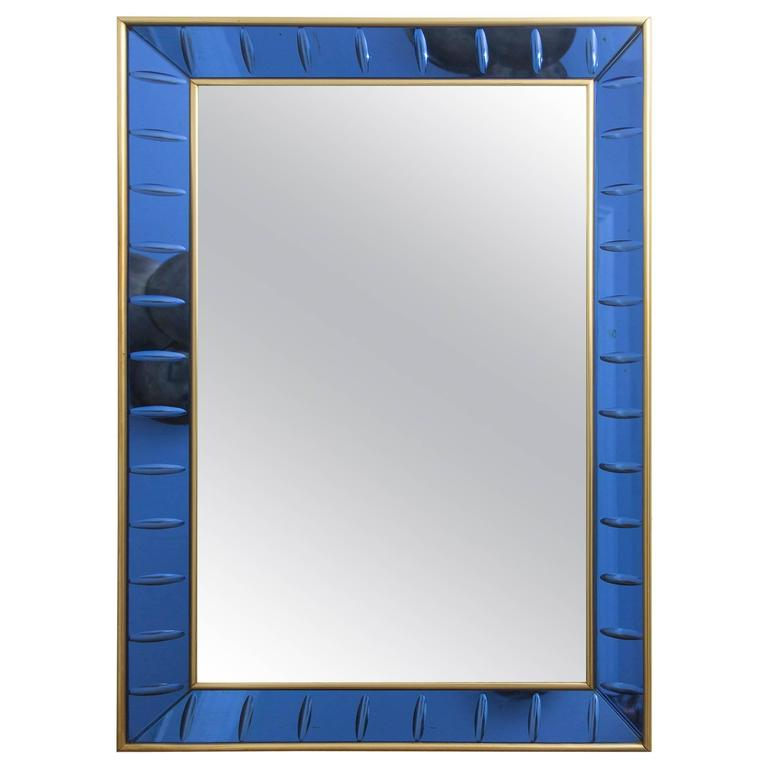 Wall Mirror by Cristal Art, Italy, circa 1960 For Sale