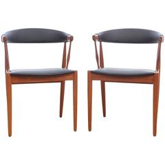 Mid-Century Modern Pair of Armchairs by Johannes Andersen