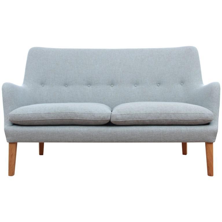 Mid-Century Modern Scandinavian Two Seats Sofa by Arne Vodder Av 53 New Release For Sale