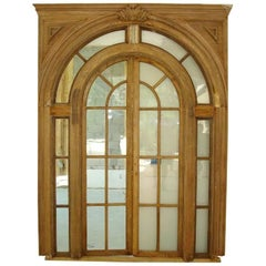 Philadelphia Neoclassical Interior Arched Doors with Surrounds, circa 1800-1830