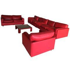 Poltrona Frau Leather Modular Sofa