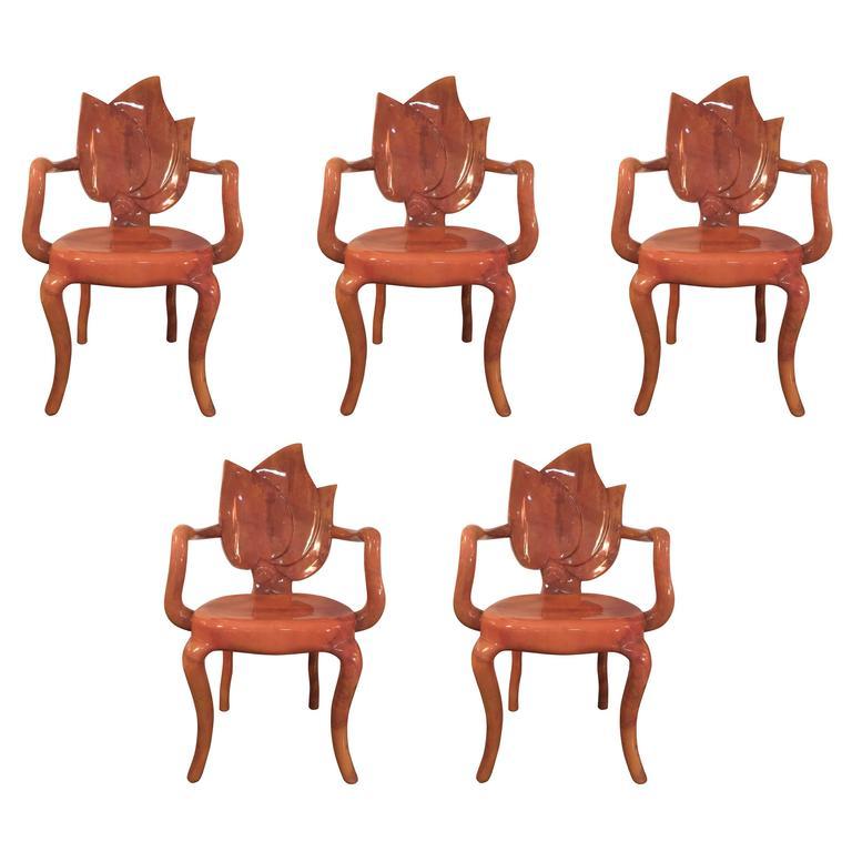 Enrique Garcel Goatskin Armchairs For Sale