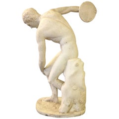 Classical Sculpture of Greek Discus Thrower