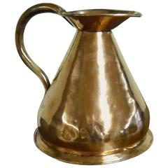 French Copper Measuring Pitcher