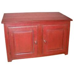 Canadian Painted Barn Red Two-Door Buffet