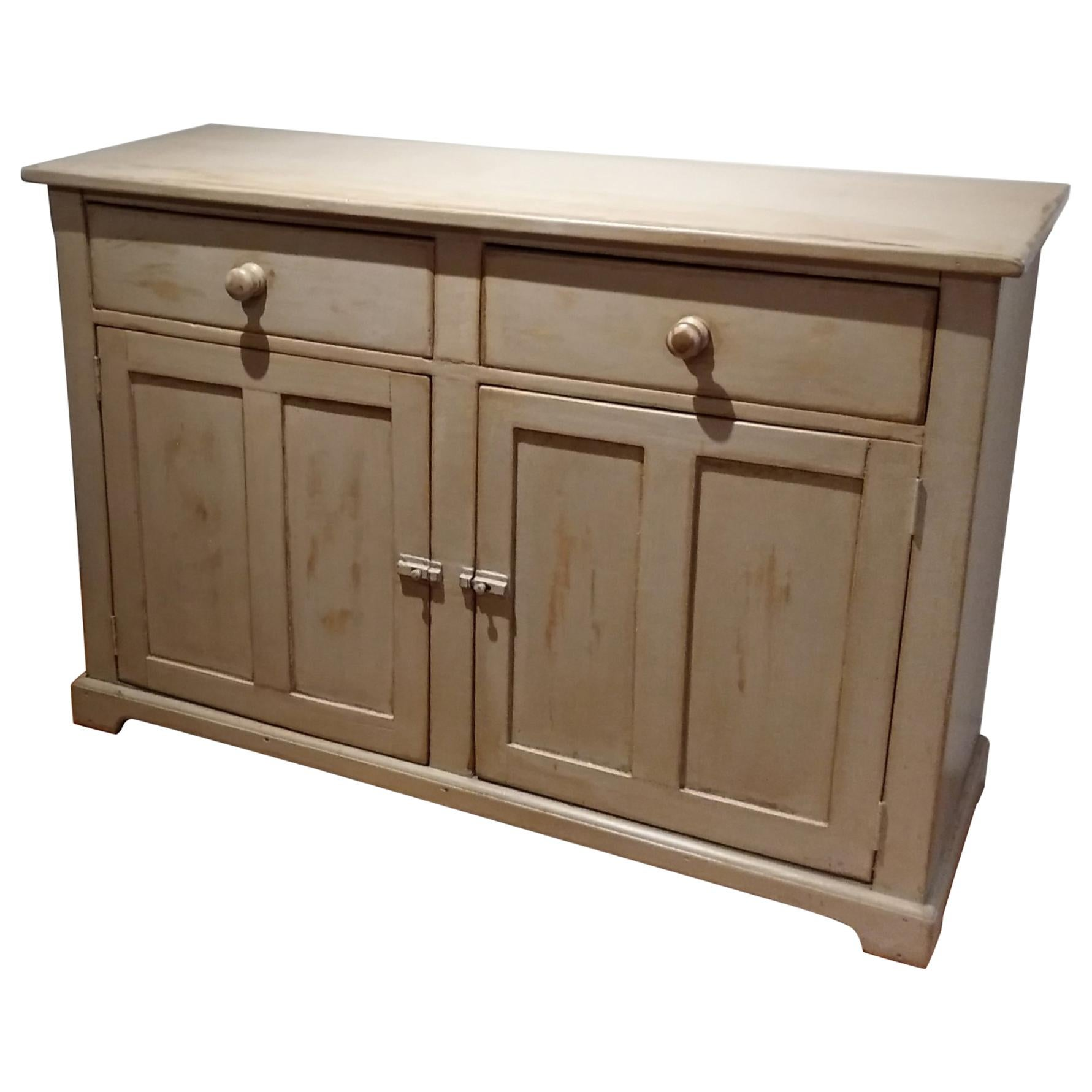 Painted Canadian Two-Door, Two-Drawer Buffet
