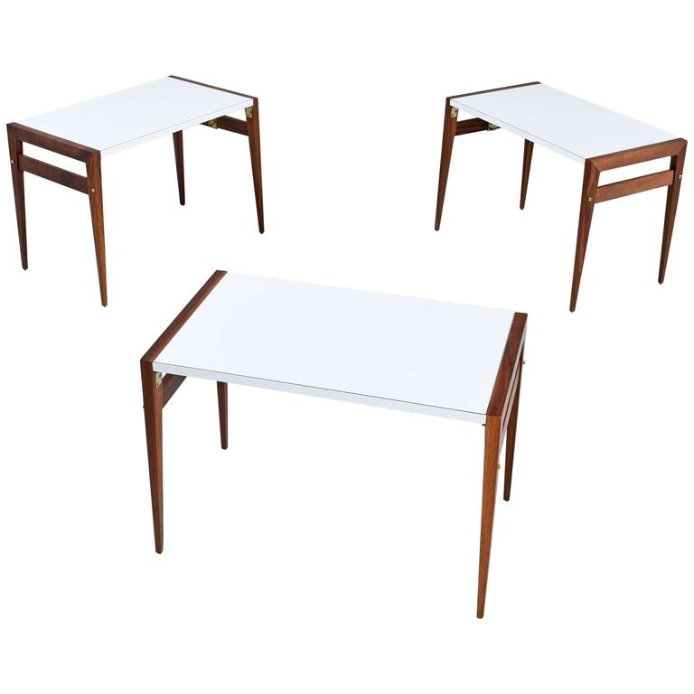 Incroyable John Keal Folding Side Tables For Sale