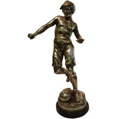 Soccer or Football player Figure, Sculpture or Trophy, France, 1920s