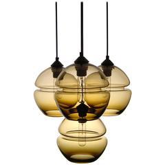 Groove Serie Molekül Kronleuchter - Moderne, handgefertigte Beleuchtung - Sonderanfertigung