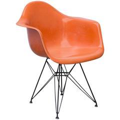 Eames Molded Fiberglass Armchair in Orange