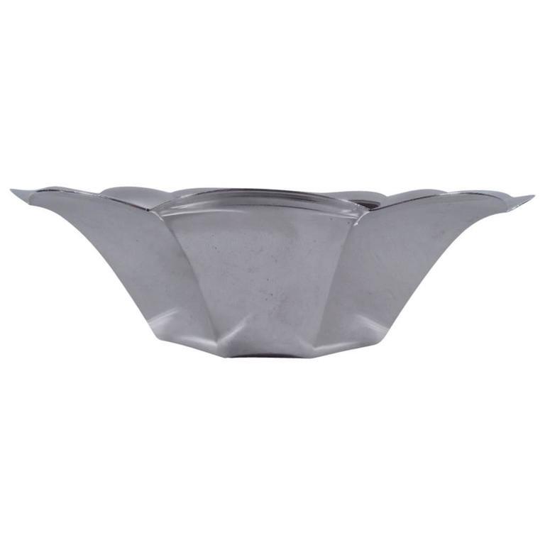 Tiffany American Midcentury Modern Sterling Silver Bowl