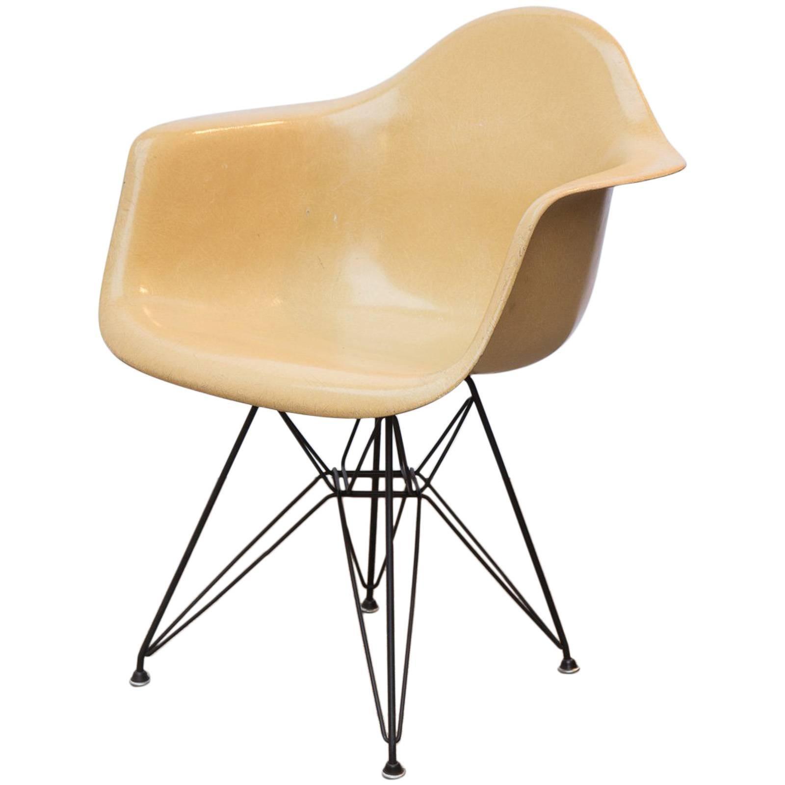 Eames for Herman Miller DAR Fiberglass Armchair in Yellow