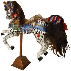 Vintage Antique Hand-Painted Wooden Horse