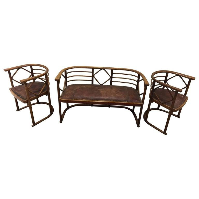 Josef Hoffmann Parlor Set for J and J Kohn 1