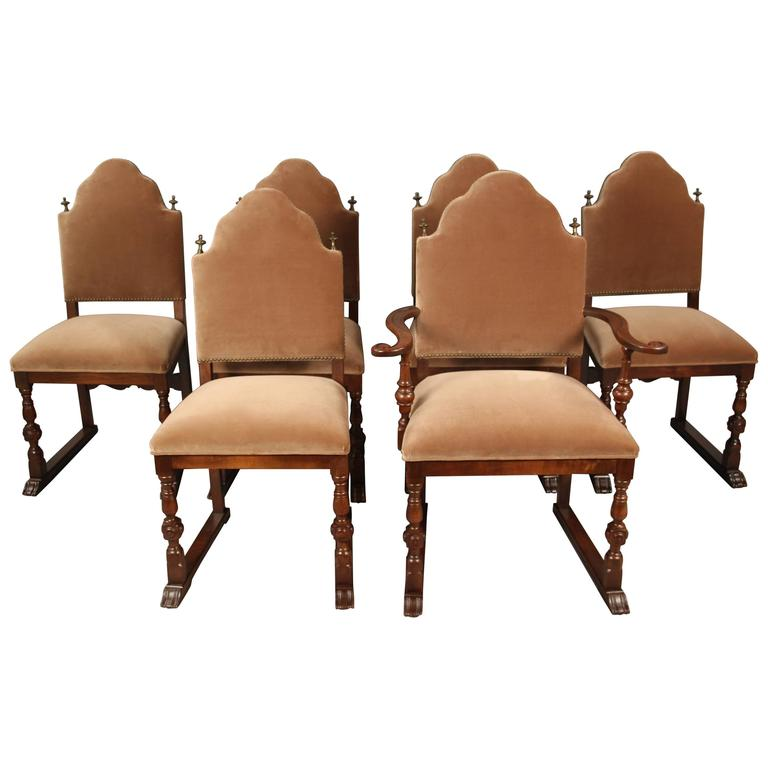 this set of six spanish revival dining room chair is no longer