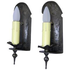Pair of Single Adobe Style Antique Sconce