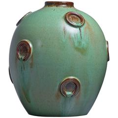 Jerk Werkmaster Ceramic Vase for Nittsjo, Sweden, 1930s-1940s