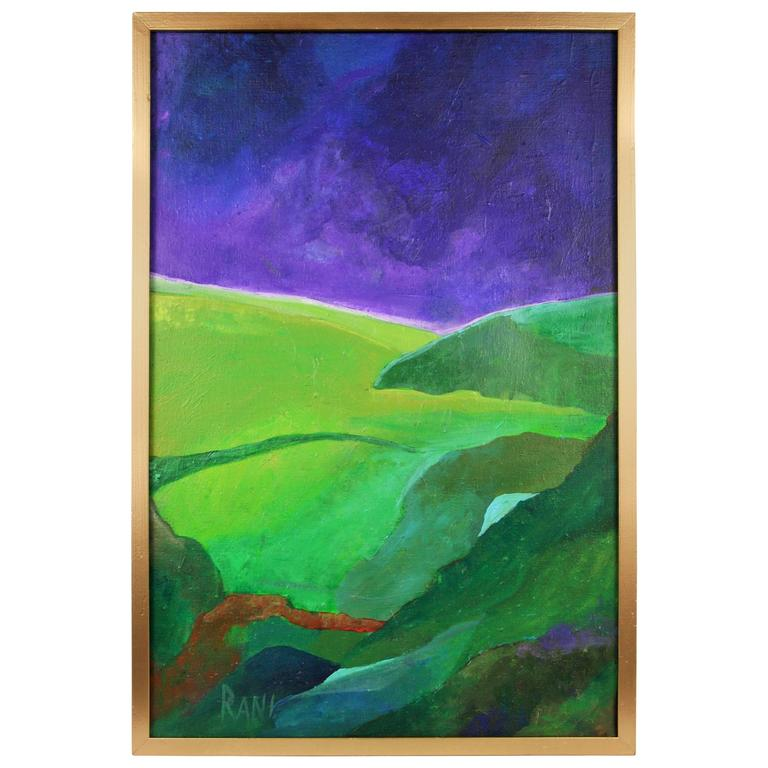 Impressionist Rolling Landscape Painting by Rani