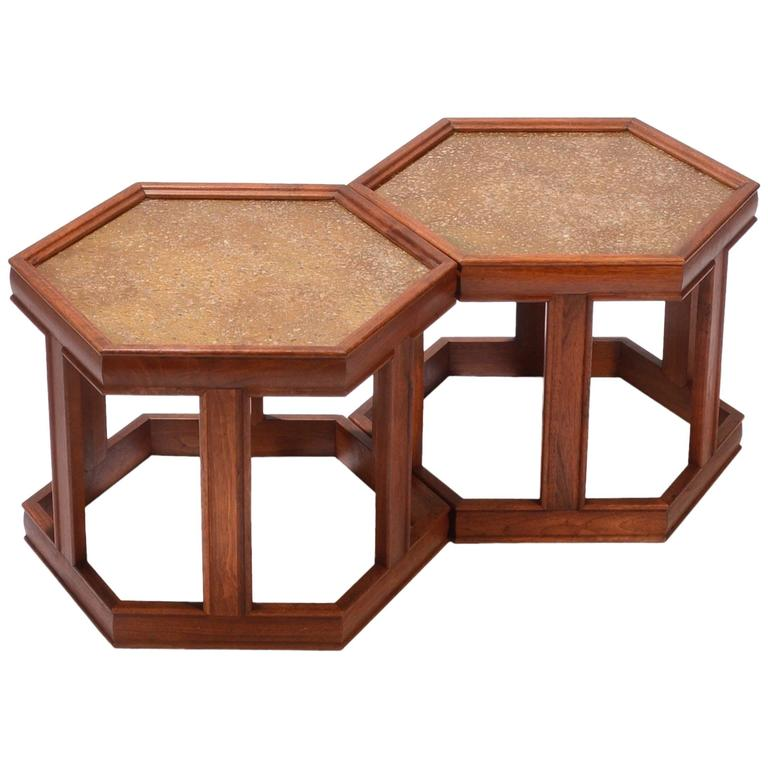 John Keal for Brown Saltman Hexagonal End Tables