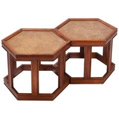 John Keal for Brown Saltman Hexagonal End Tables