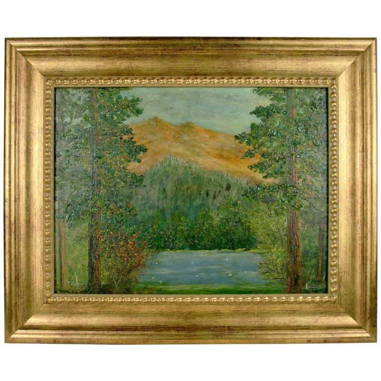 Impressionist Landscape Painting by F. Koops For Sale