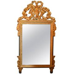 Louis XVI Style Highly Decorative Gilded Mirror