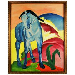 Blue Horse Painting by Jay Knopf