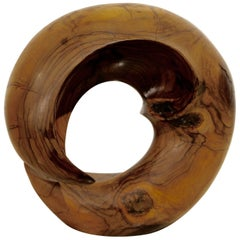 Nice Sculpture Out of Olive Wood by Noted Artist Leon Bronstein
