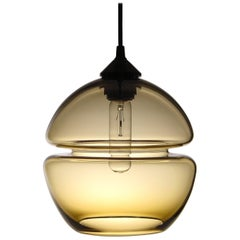 Groove Series Orb Pendant, Contemporary Handmade Glass Lighting